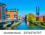 view of brick buildings... | Shutterstock . vector #1076376707