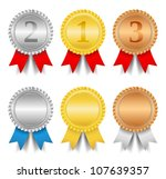 award ribbons  vector eps10... | Shutterstock .eps vector #107639357