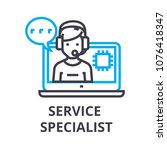 service specialist thin line... | Shutterstock .eps vector #1076418347