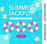 shopping summer jackpot games... | Shutterstock .eps vector #1076421443