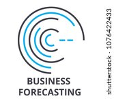 business forecasting thin line... | Shutterstock .eps vector #1076422433