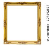 old picture frame on white... | Shutterstock . vector #107642537
