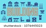 building  vector. illustration... | Shutterstock .eps vector #1076445023