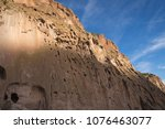 ancient anasazi adobe and cave... | Shutterstock . vector #1076463077