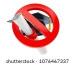 mortarboard with forbidden sign ...   Shutterstock . vector #1076467337