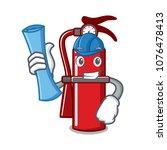 architect fire extinguisher... | Shutterstock .eps vector #1076478413