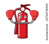 boxing fire extinguisher... | Shutterstock .eps vector #1076478443