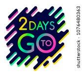 2 days. advertising modern... | Shutterstock .eps vector #1076480363