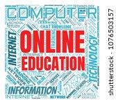 internet education concept....   Shutterstock . vector #1076503157