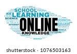 internet education concept....   Shutterstock . vector #1076503163