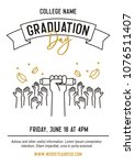 graduation ceremony party... | Shutterstock .eps vector #1076511407