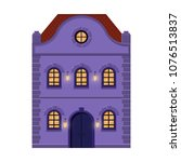 house. flat style violet old... | Shutterstock .eps vector #1076513837