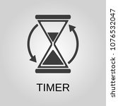 timer icon. timer symbol. flat... | Shutterstock .eps vector #1076532047