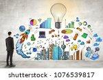 businessman standing in...   Shutterstock . vector #1076539817