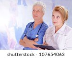 in the photo mature people ... | Shutterstock . vector #107654063