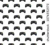 video game controller pattern.... | Shutterstock .eps vector #1076552573