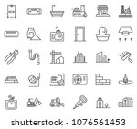 thin line icon set  ... | Shutterstock .eps vector #1076561453