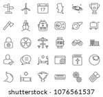 thin line icon set   gears... | Shutterstock .eps vector #1076561537