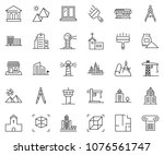 thin line icon set   bank... | Shutterstock .eps vector #1076561747