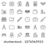 thin line icon set   business... | Shutterstock .eps vector #1076565923