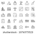 thin line icon set  ... | Shutterstock .eps vector #1076575523