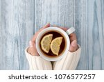 close up of female hands... | Shutterstock . vector #1076577257