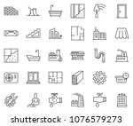 thin line icon set   office... | Shutterstock .eps vector #1076579273
