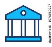 bank finance building  | Shutterstock .eps vector #1076580227