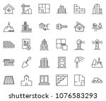 thin line icon set  ... | Shutterstock .eps vector #1076583293