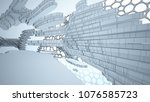 abstract drawing white... | Shutterstock . vector #1076585723