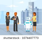 artificial intelligence concept ... | Shutterstock .eps vector #1076607773