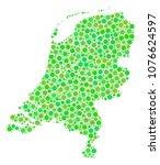 netherlands map mosaic of... | Shutterstock .eps vector #1076624597