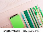 office table with space  green... | Shutterstock . vector #1076627543
