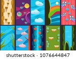 10 various vertical backgrounds ...