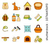 vector illustration with... | Shutterstock .eps vector #1076645693