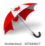 Umbrella With Canadian Nationa...