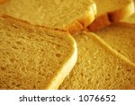 Slices of bread - stock photo