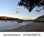 many moored yachts and boats in ... | Shutterstock . vector #1076656673