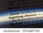 Small photo of fighting chance fighting chance concept.