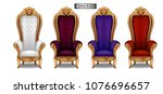 the throne of the king in the... | Shutterstock .eps vector #1076696657