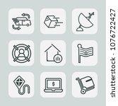 premium set of outline icons.... | Shutterstock .eps vector #1076722427