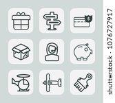 premium set of outline icons....   Shutterstock .eps vector #1076727917