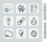 premium set of outline icons.... | Shutterstock .eps vector #1076750417