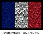 french flag concept created of... | Shutterstock .eps vector #1076782247