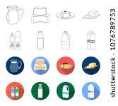 milk  calcium  product  food ... | Shutterstock .eps vector #1076789753