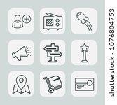 premium set of outline icons....   Shutterstock .eps vector #1076804753