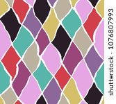 seamless pattern with elements... | Shutterstock .eps vector #1076807993