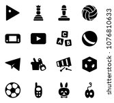 solid vector icon set   play... | Shutterstock .eps vector #1076810633