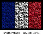 french flag mosaic combined of... | Shutterstock .eps vector #1076810843