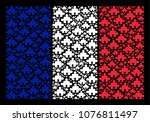 france flag collage organized... | Shutterstock .eps vector #1076811497